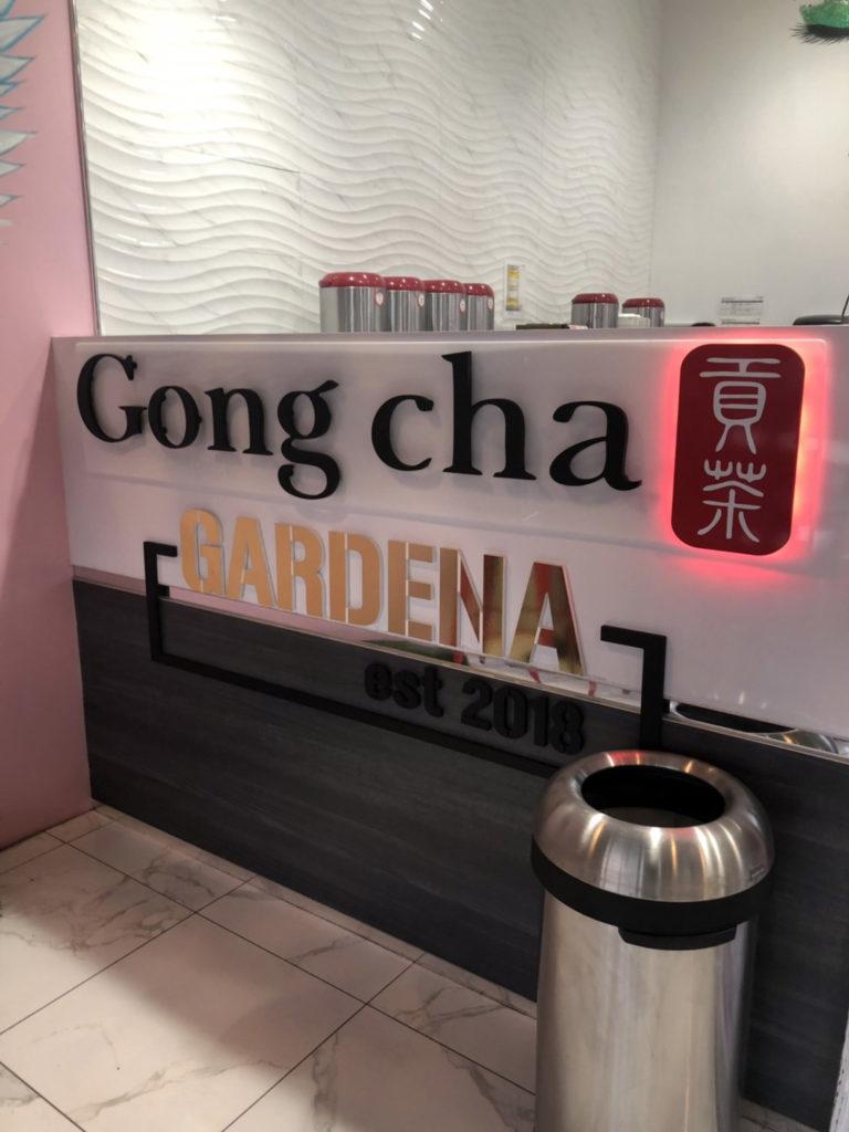 アメリカでおすすめのタピオカ店Gong Chaの店内看板の画像