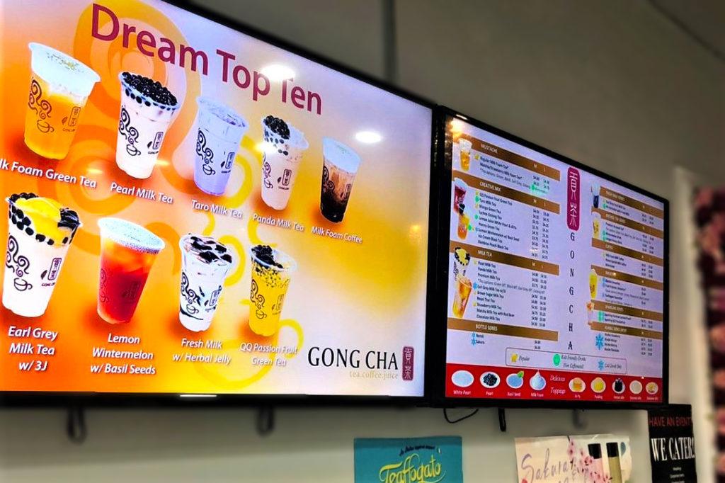 アメリカでおすすめのタピオカ店Gong Chaのメニューの画像1