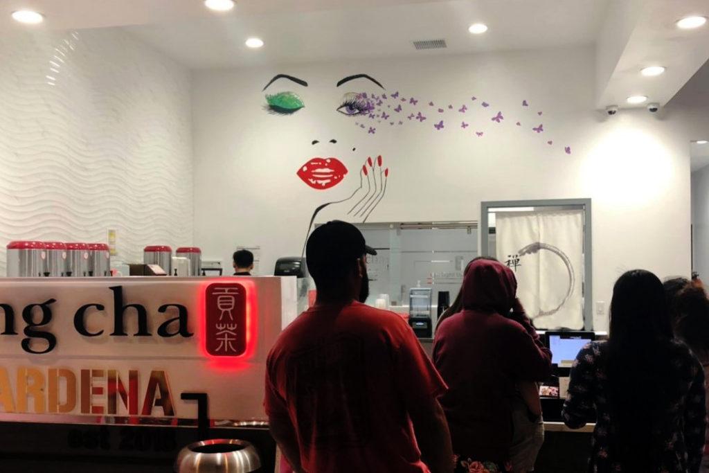 アメリカでおすすめなGong Chaの店内画像